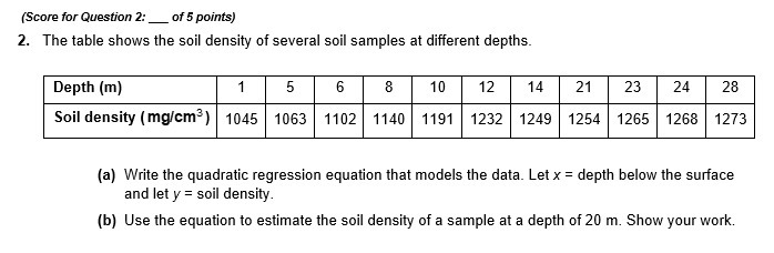 Moreee help plz11 the table shows the soil density of download png publicscrutiny Choice Image