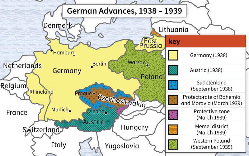 Map Of Germany During Cold War.What Is The Main Subject Of This Map A World War I In Europe B
