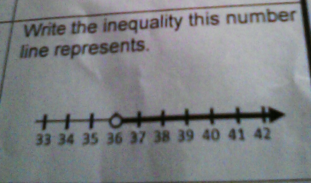 writing inequalities from a number line worksheet