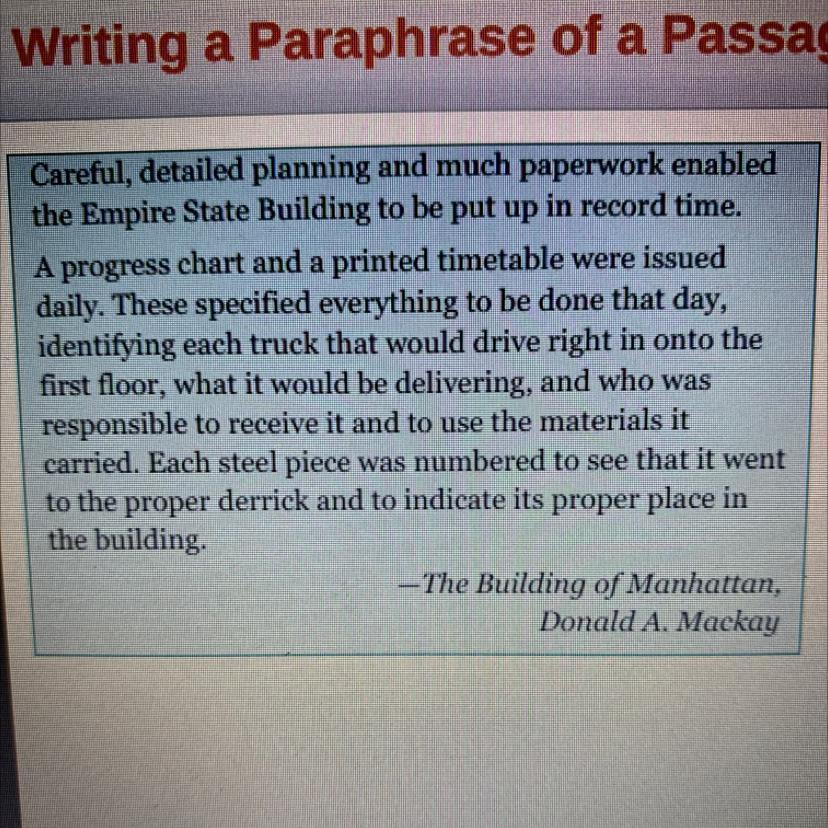 Please Help Asap Write A Paraphrase Of The Passage Brainly Com Paraphrasing Prose