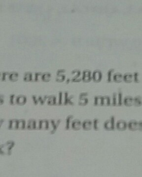 There are 5280 feet in one mile Hannah likes to walk 5 miles ...