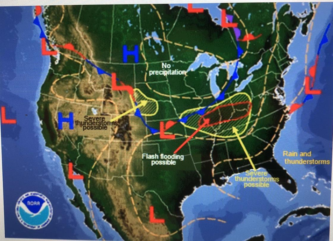Western Us Weather Map The weather map below shows a high pressure zone in the western
