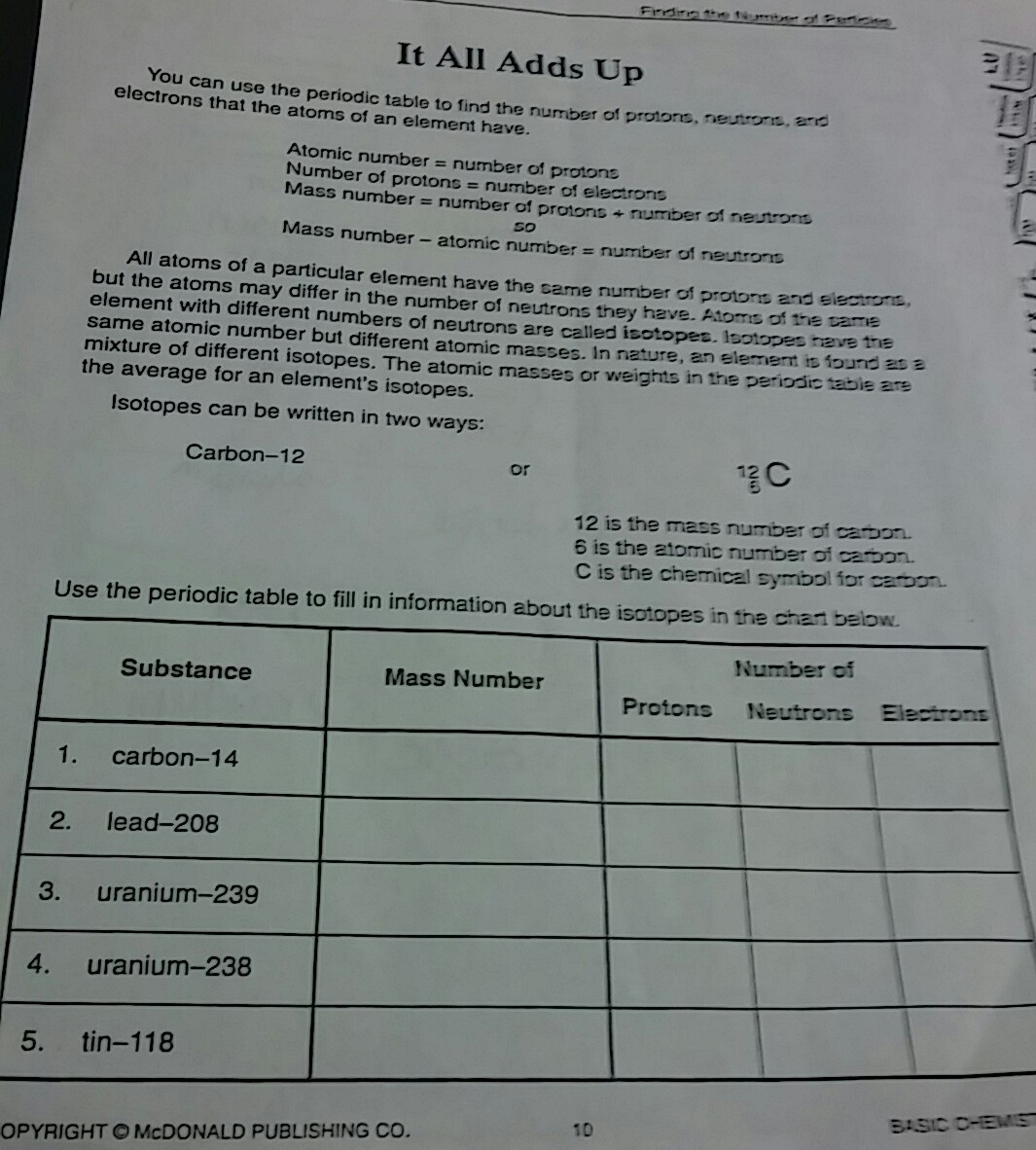 it all adds up worksheet - Brainly com