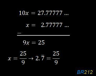 What is 2.7 repeating as a fraction? - Brainly.com