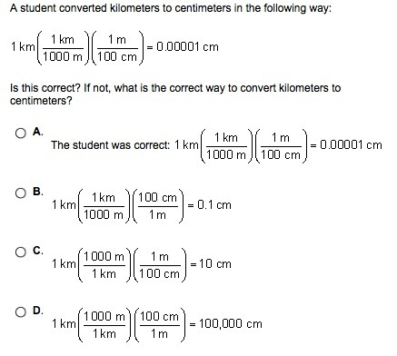 A Student Converted Kilometers To Centimeters In The Following Way Picture Included Is This Inly Com