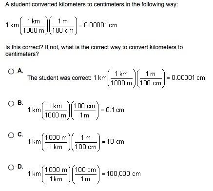 = 100000 centimeters