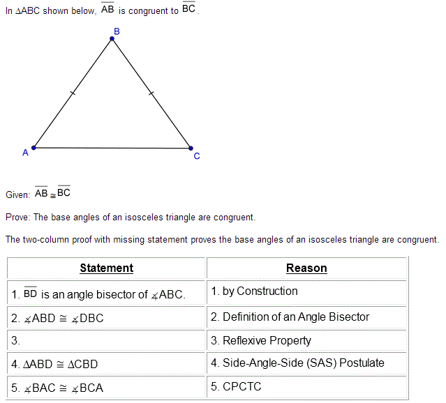 In abc shown below ab is congruent to bc given ab bc prove prove the base angles of an for Exterior angle property of a triangle proof