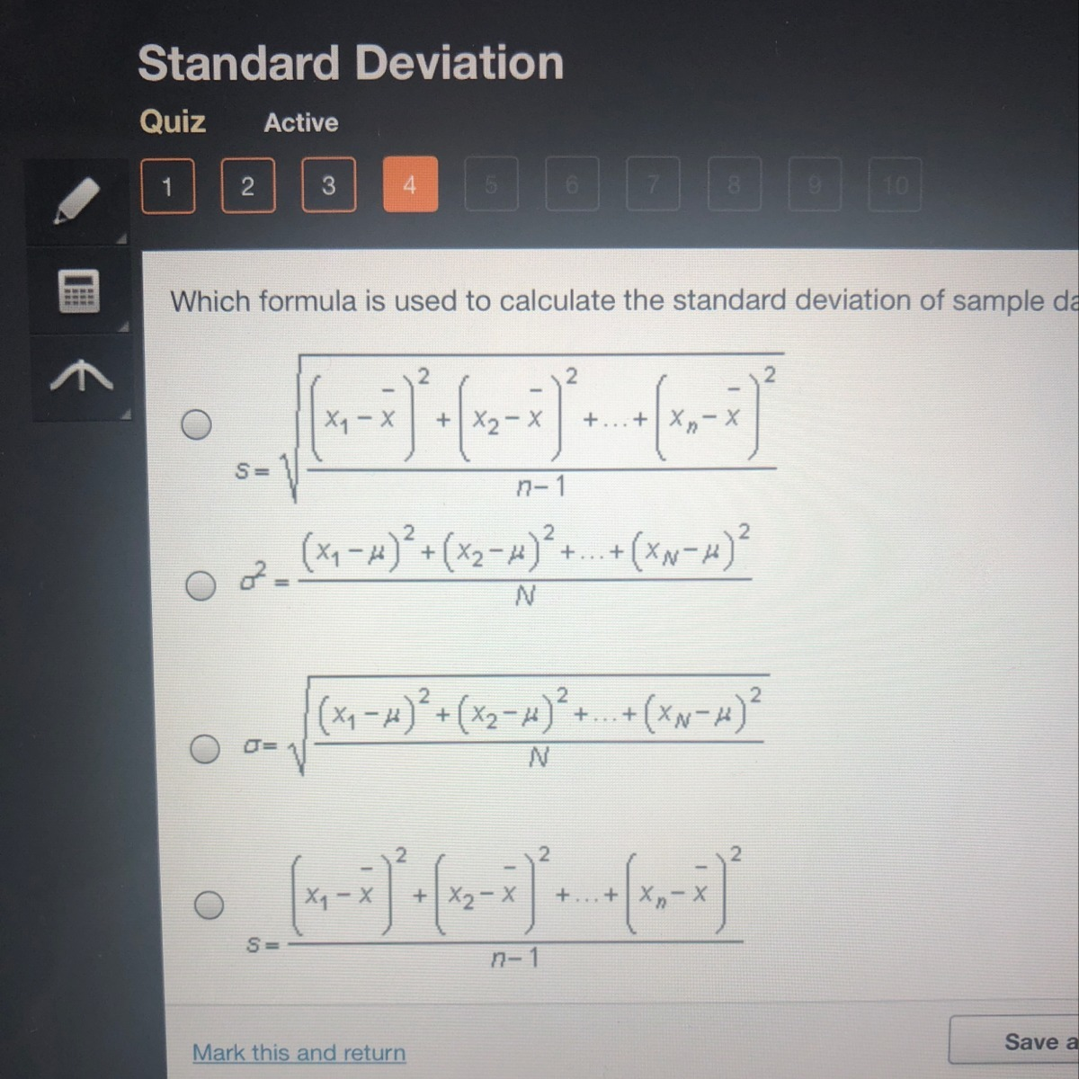 Which Formula Is Used To Calculate The Standard Deviations Of Sample