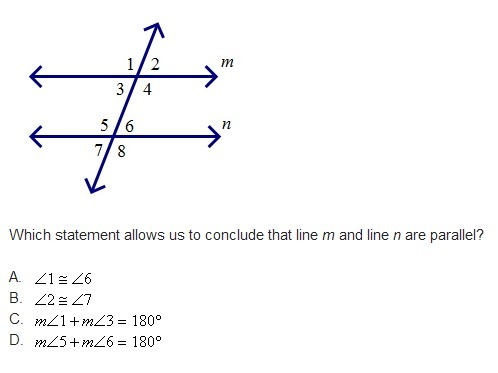 Which Statement Allows Us To Conclude That Line M And Line N Are