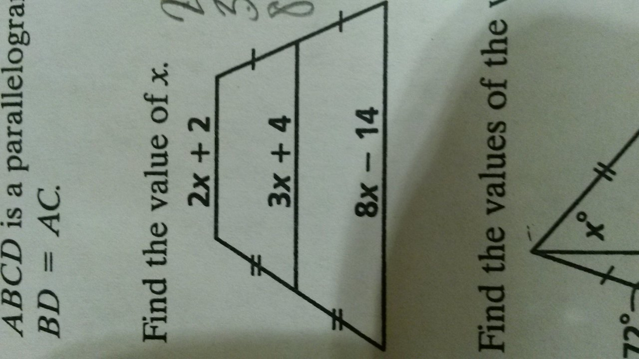 how do you find the value of x in this trapezoid. Black Bedroom Furniture Sets. Home Design Ideas