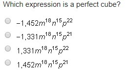 Which Expression Is A Perfect Cube Brainlycom