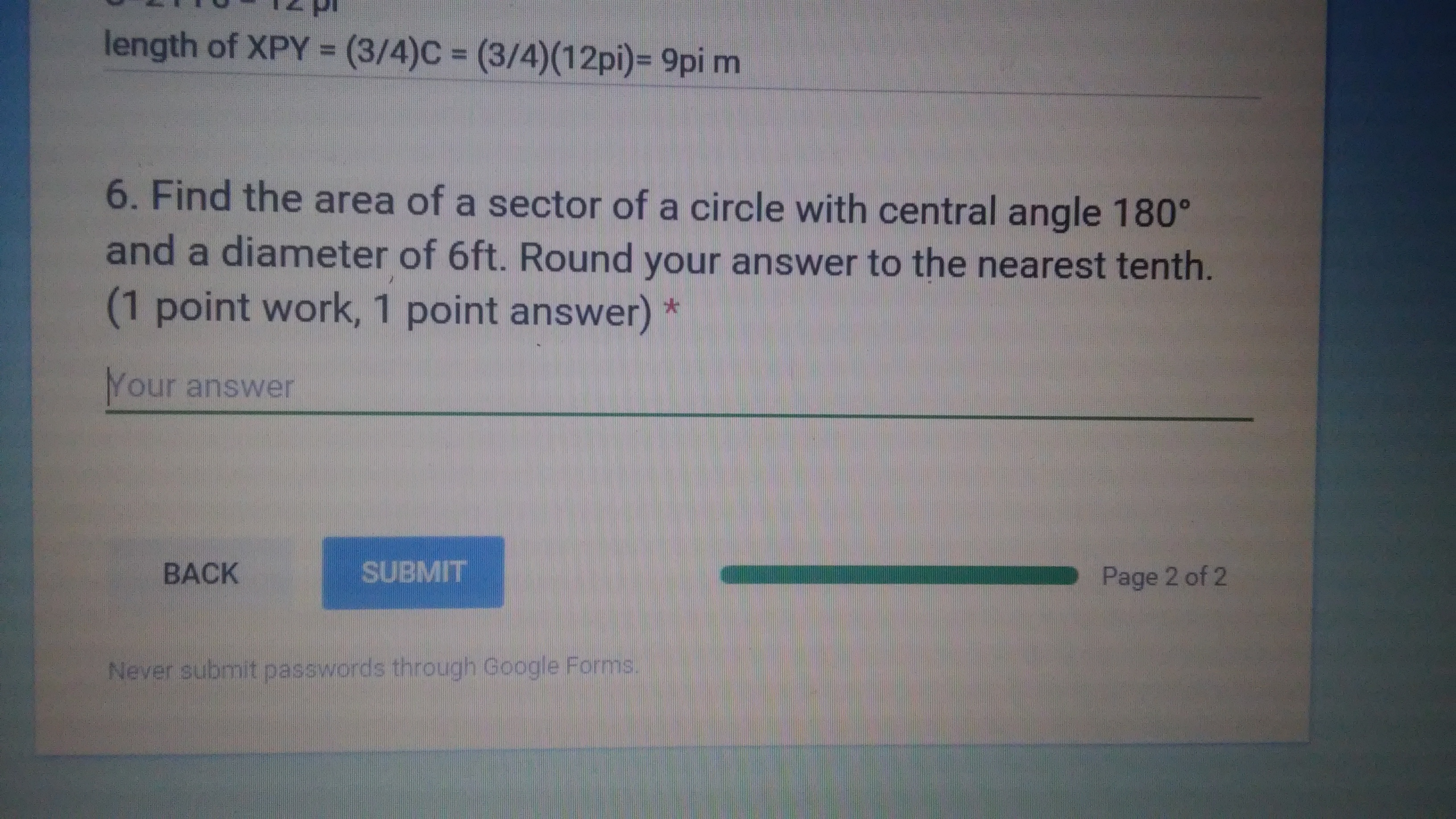 1 Area Formula Table How To Find The Radius