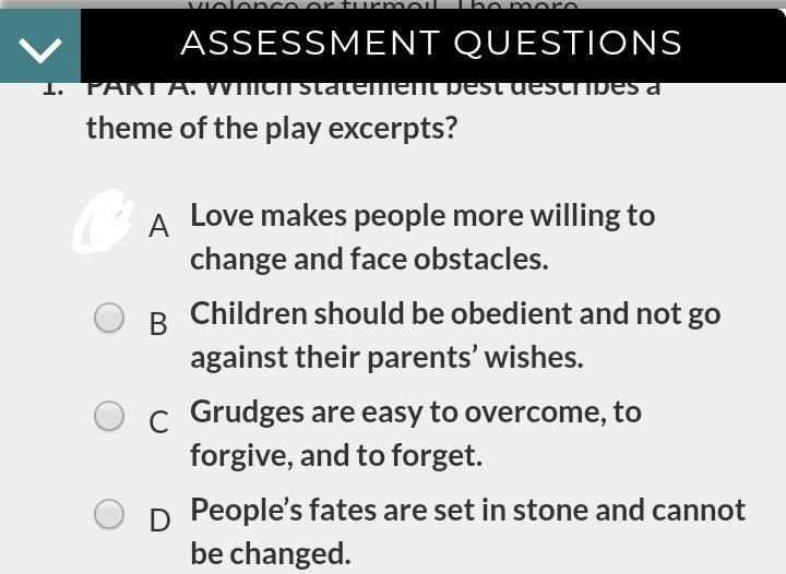 Which statement best describes a theme of the play ...