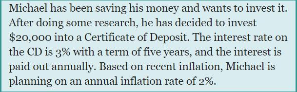 Which statement best explains the interest rates related to this CD