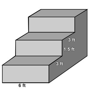 The height, width and length of the steps are identical