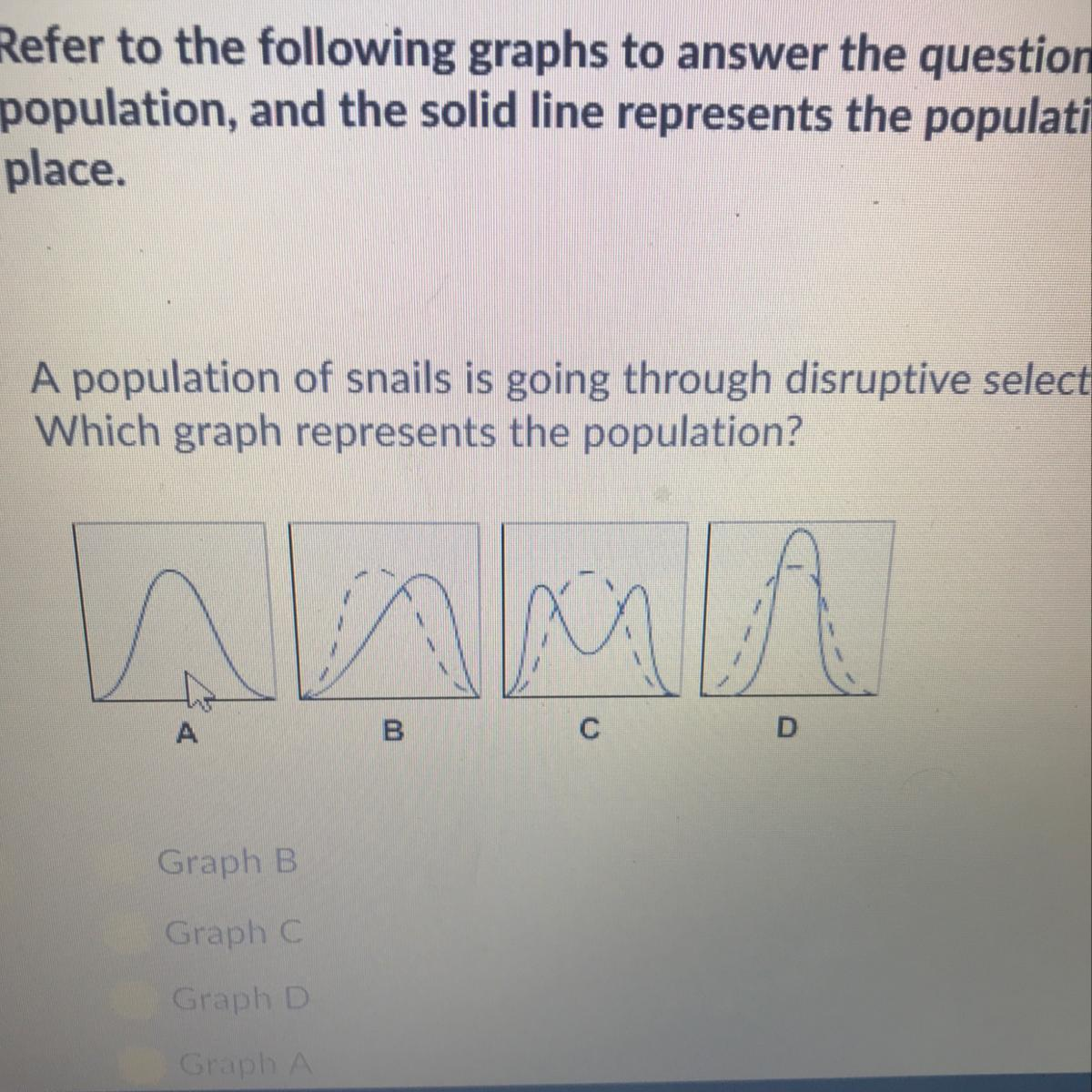 A Population Of Snails Is Going Through Disruptive Selection As It
