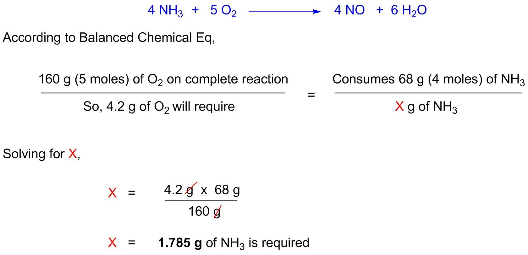 Ammonia Chemically Reacts With Oxygen Gas To Produce Nitric Oxide