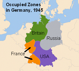 Map Of Germany Ww2.Look At This Map Of Germany After World War Ii Which Of The