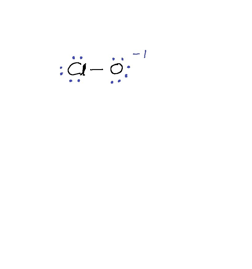 Which of these do not obey the octet rule? ClO ClO− ClO2 ...  |Clo Lewis Structure