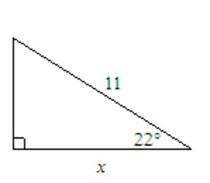 Find the value of x. Round to the nearest tenth. The diagram is ...