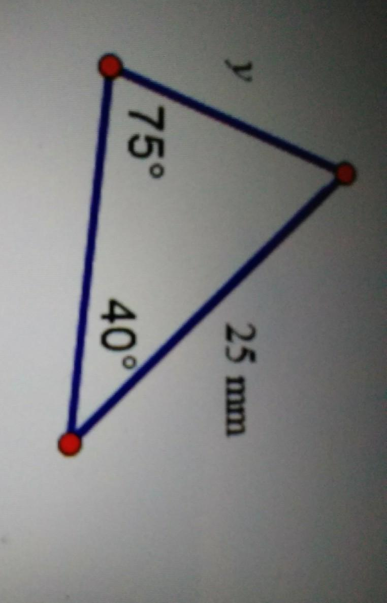 Which ratio can be used to solve for y in the triangle ...