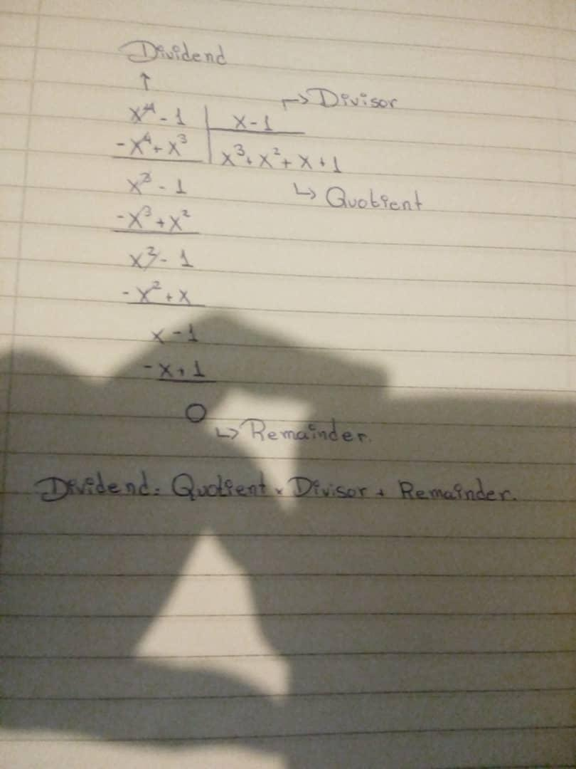 Use synthetic division to Solve (x4  1)  (x  1). What