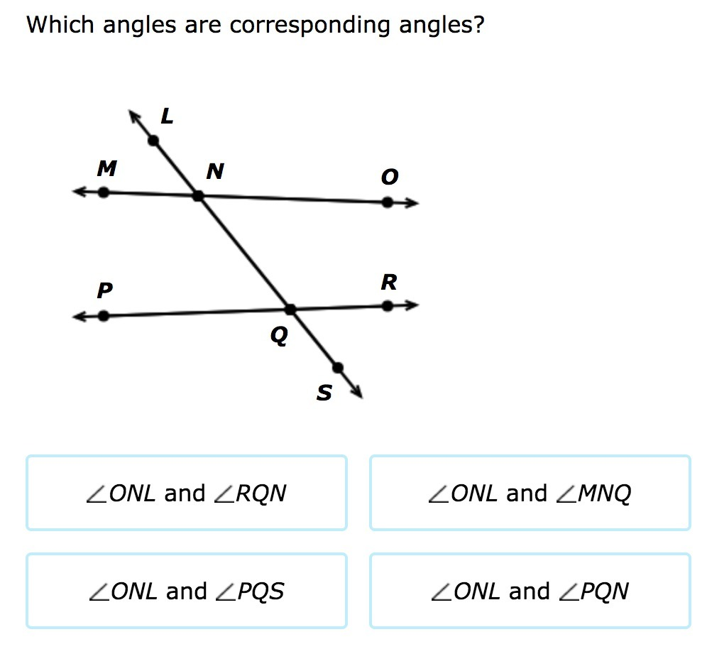 worksheet Corresponding Angles which angles are corresponding brainly com angles