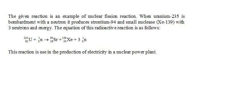 Uranium 235 Undergoes Nuclear Fission As Shown In The Diagram Below
