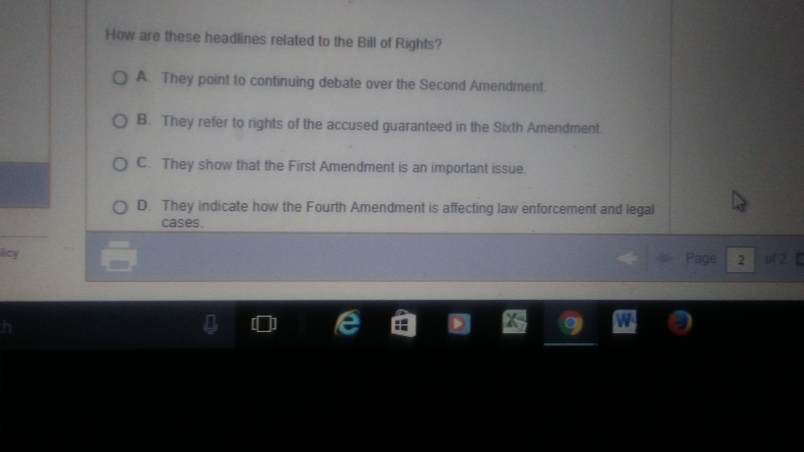 How are these headlines related to bill of rights - Brainly.com
