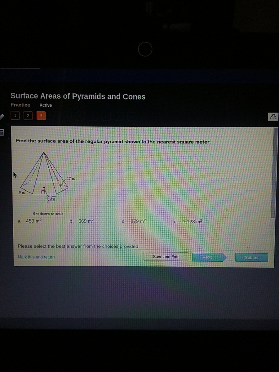 2 Surface Area Of A Square Pyramid