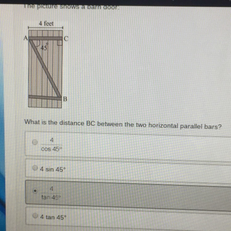 The Picture Shows A Barn Door What Is The Distance Bc Between Two
