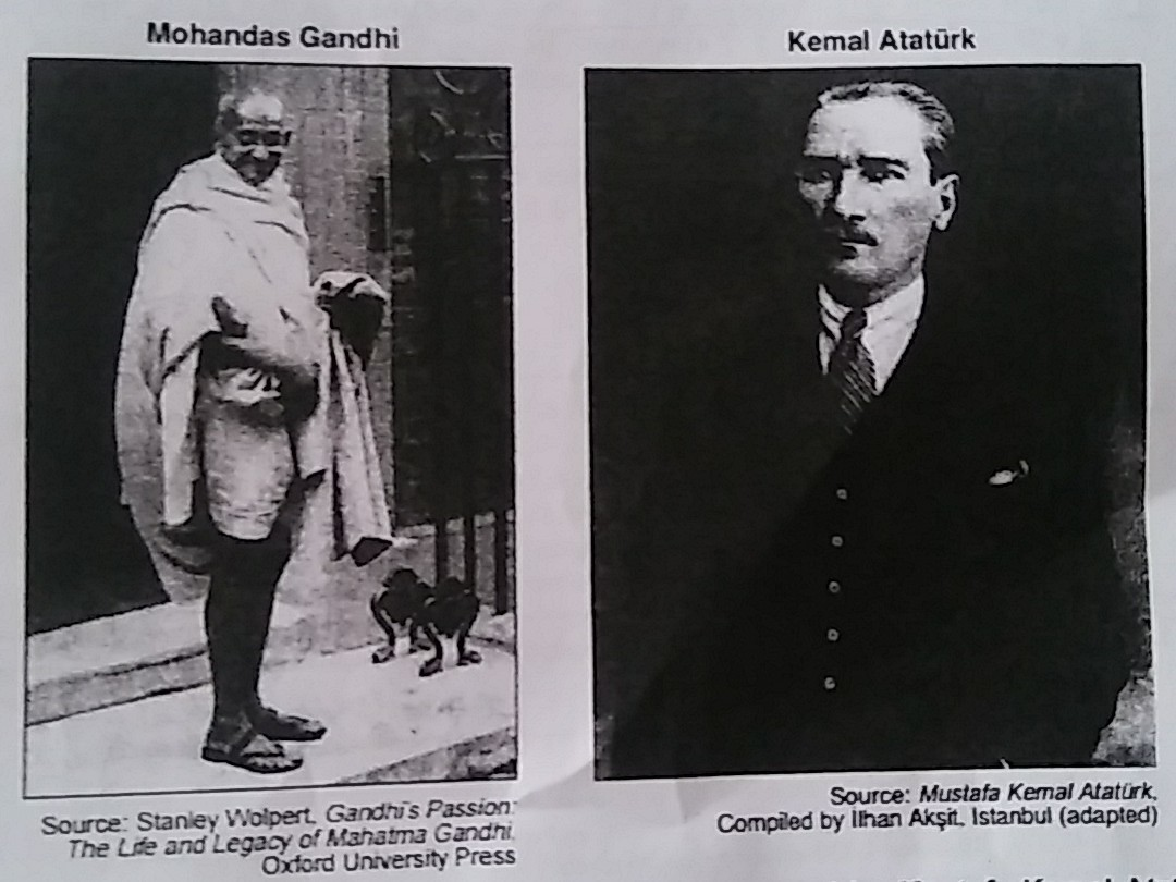 a comparison of mustafa kemal and mohandas gandhi