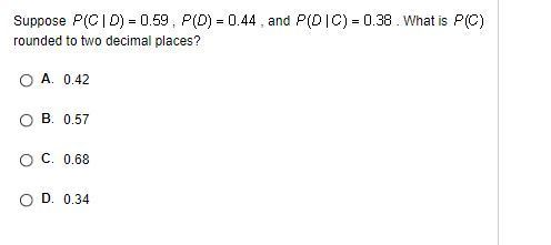 Suppose Pcd0  And P Dc0 38 What Is Pc Rounded To Two Decimal Places Inly Com