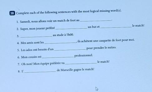 please fill in the blanks for meI speak english not French