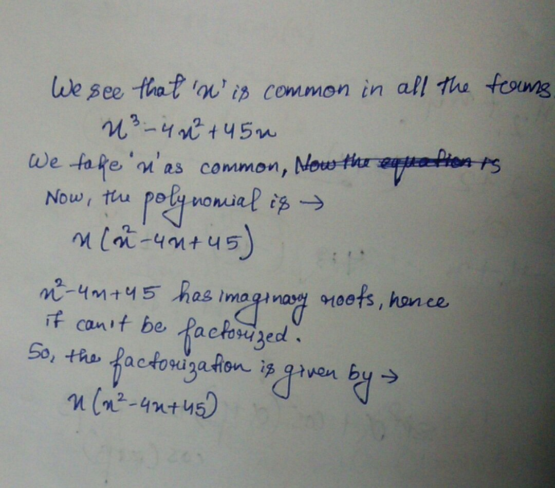 What is the factorization of the polynomial below? x^3-4x ...