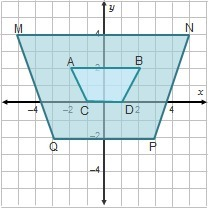 Is trapezoid ABDC the result of a dilation of trapezoid ...