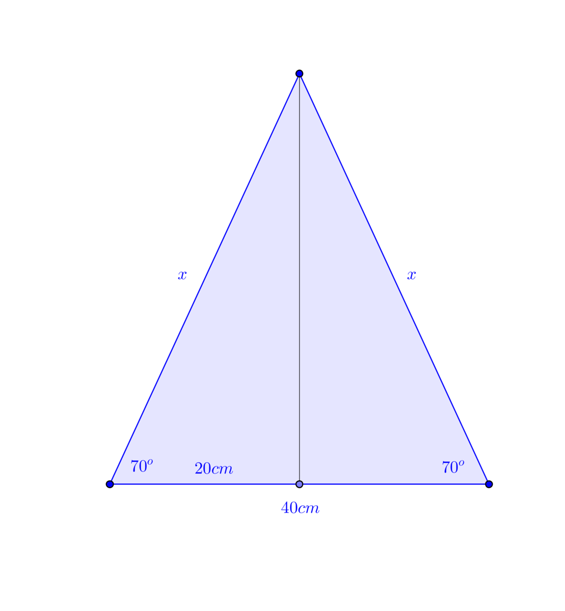 The perimeter of an isosceles triangle is 16