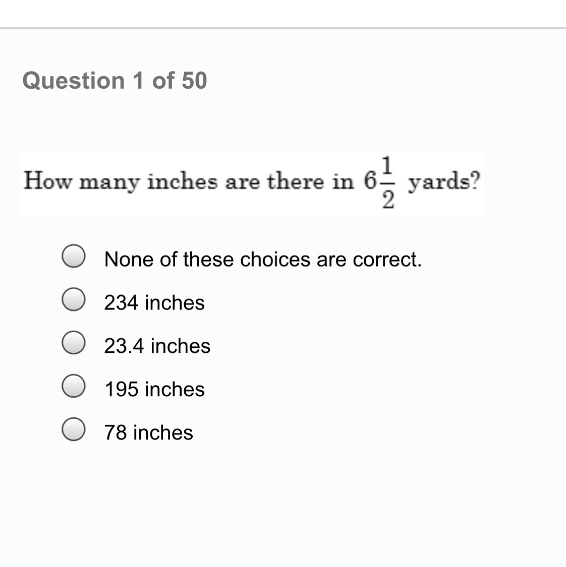 How Many Inches Are There In 6 1 2 Yards