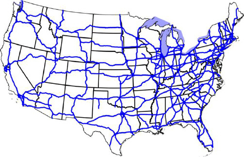 What Does The Map Above Illustrate A Air Traffic Flight Paths In - Us air traffic map