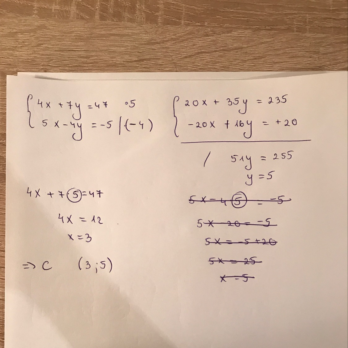 Solve The System Of Equations And Choose The Correct Ordered Brainly