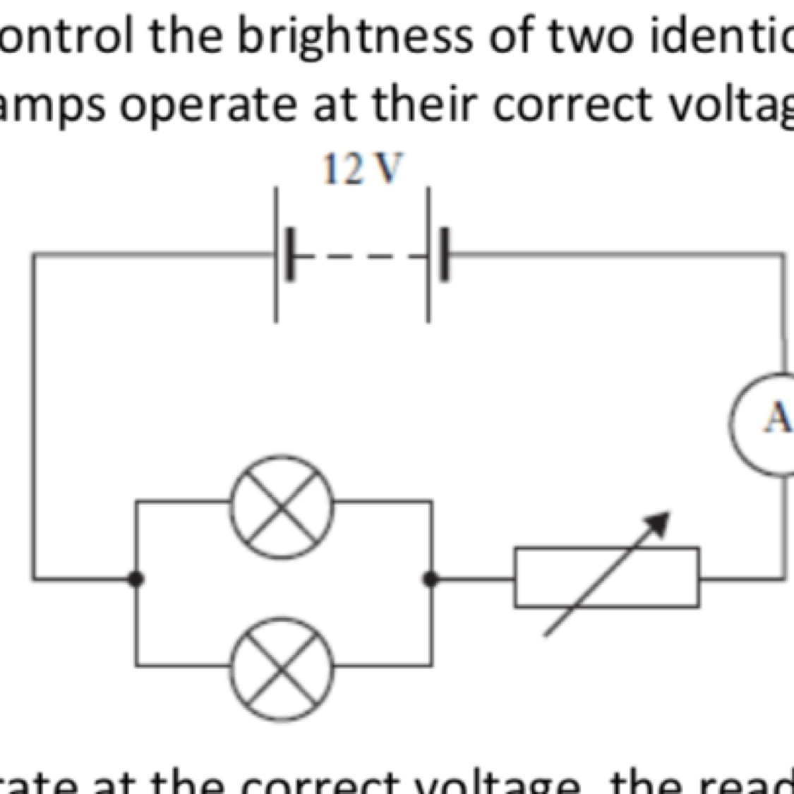 Variableresistor Is Used To Control Current In Circuit As ... on