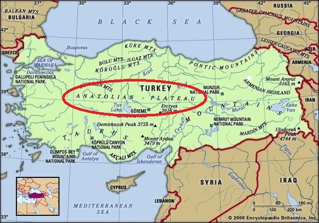 Where Is The Anatolian Plateau Located On A Map Please Load A Map