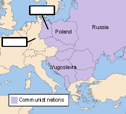 Look at the map of Europe after World War II.What countries ...