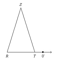 Find the value of x. The diagram is not to scale. Given: ∠SRT ...