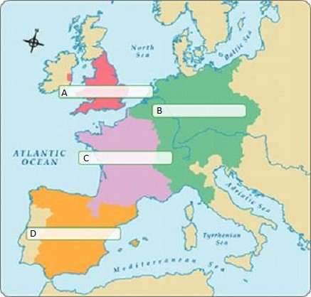 Map Of Europe In The 1500s.Label The Four Nations Of Europe In The 1500s In The Boxes Provided
