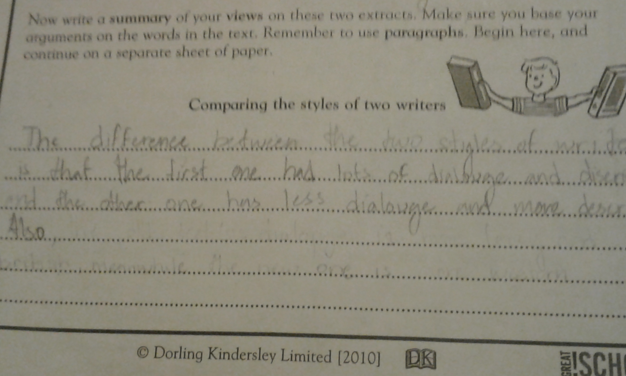 please help.comparing two stories worksheetDorling Kindersley ...
