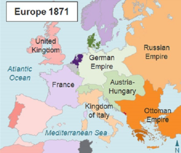 Map Of Europe In 1871.The Map Shows Europe In 1871 According To The Map What Was Italy S