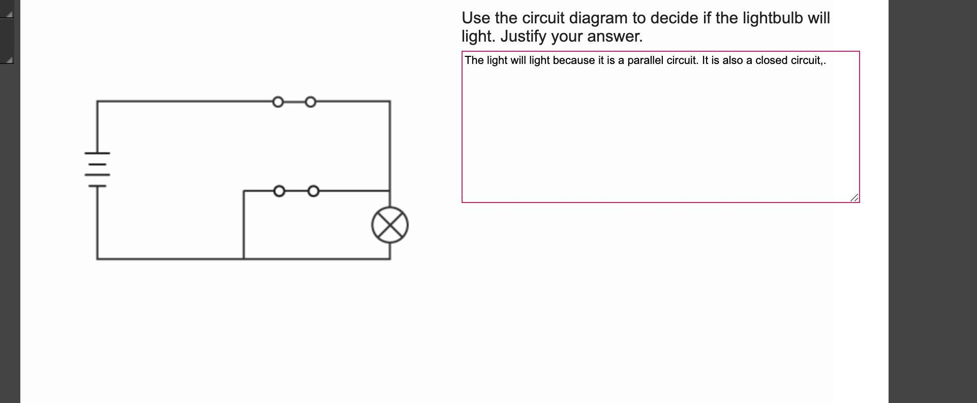 Use the circuit diagram to decide if the lightbulb will light ... Ball Droid And Circuits Diagram Schematics on