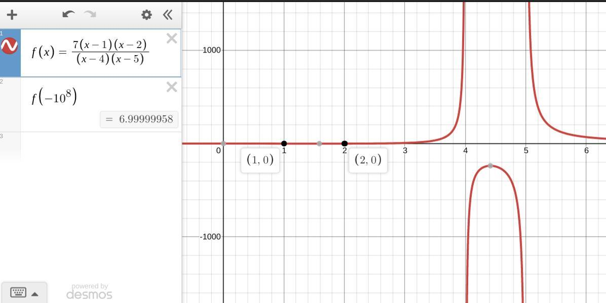 Write an equation for a rational function with: Vertical ...