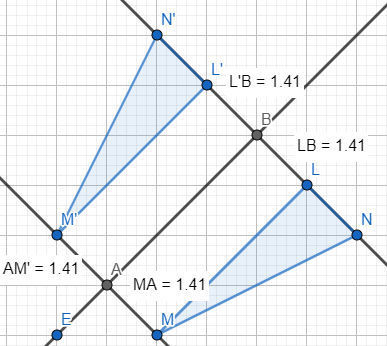 Graph A Triangle Lmn And Reflect It Over The Line Yx To Create